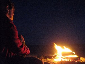 There's nothing like staring at a fire or moving water to deepen the listening!